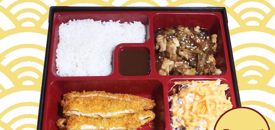 Catering Paket Bento 1 Chicken Katsu, Chicken Teriyaki, Salad, Nasi