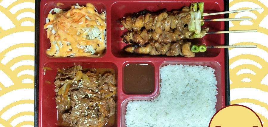Delivery Catering Makanan Online Paket Bento 8 Bento Chicken Yakitori dan Egg Roll